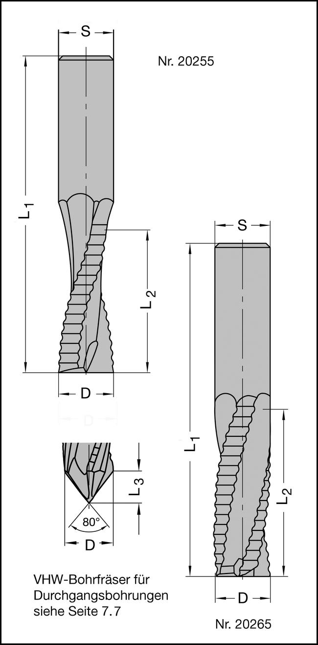 Schruppfräser Z2 VHW 10x30mm
