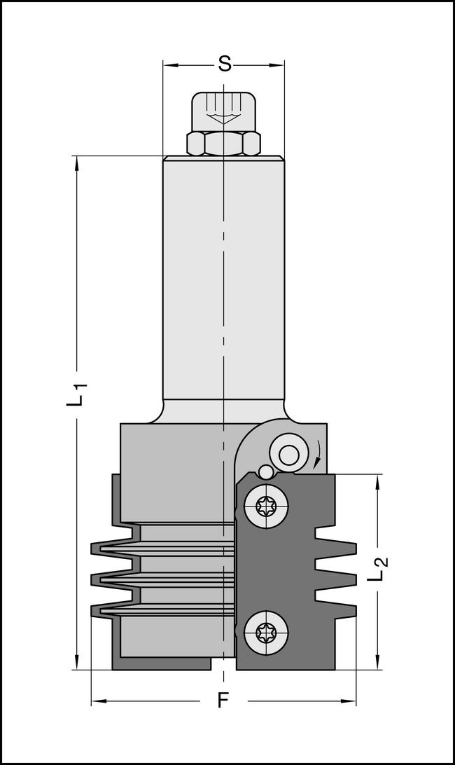 WP-Verleimfräser 55x40mm, Profil 3