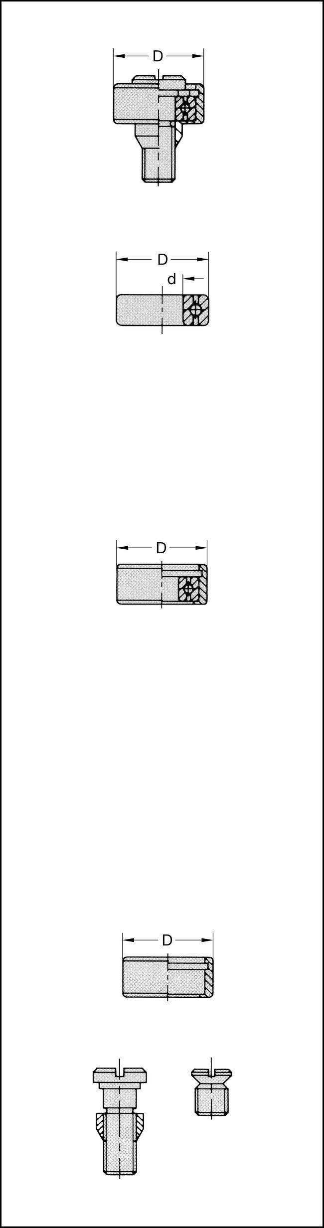 Kugellager 20mm d=6,35mm 11 GRAD