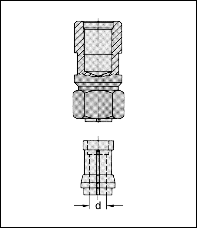 Spannzangenfutter M12x1  8mm